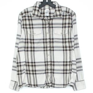 The North Face Shirt Snap Front Flannel Large D2